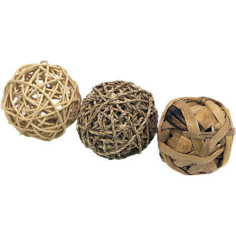 Rosewood Naturals Fun Ball Trio (Pack Of 3) (One Size) (Brown)