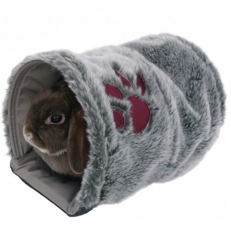 Rosewood Snuggles Reversible Snuggle Pet Tunnel (One Size) (Grey)