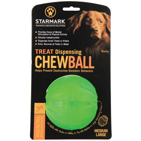 Rosewood Starmark Treat Dispensing Chew Ball (Assorted Colours) - ASRTD (Medium) (Assorted)