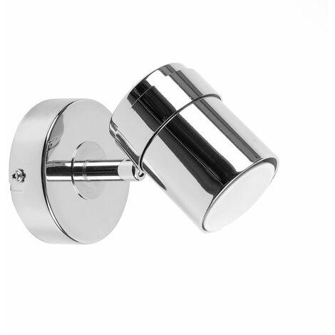 Rosie Adjustable Single Wall Spotlight + 5W Cool White LED GU10 Bulb - White - White