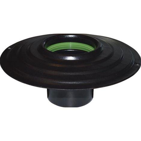 rosone porcellanato Ø 15 cm nero per tubi stufa stufe canna fumaria