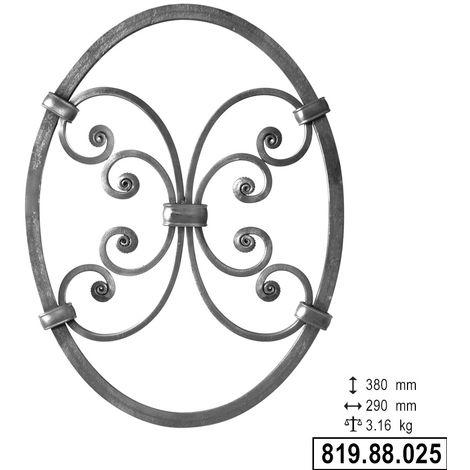 Save rosone anello classico 90° spessore 1,2 mm Ø 13 cm 130 mm in acciaio nero