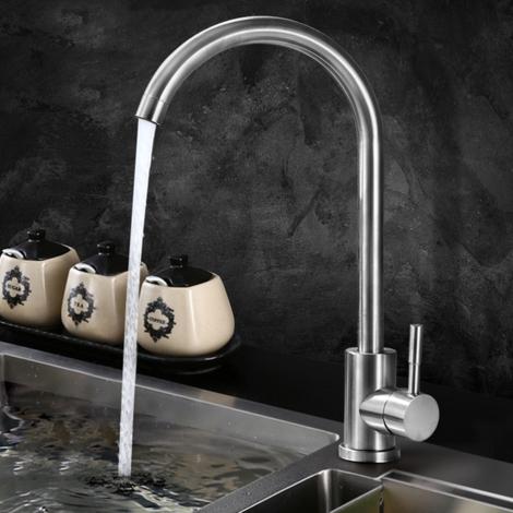 Rostfreier Spültischarmatur Küchenarmatur Wasserhahn Spültisch Heiß und kalt