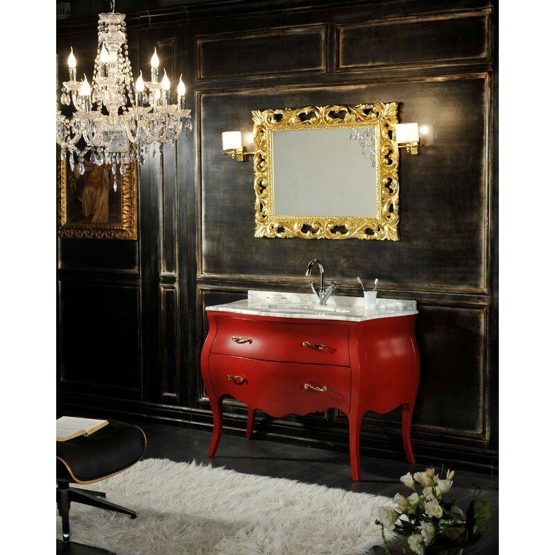 Badmöbel Barock Shabby Farbig In Rot - KIAMAMI VALENTINA