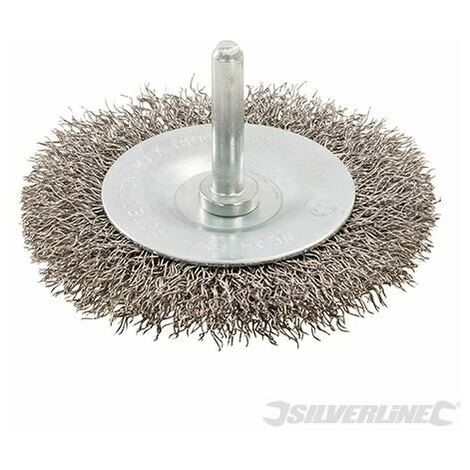Rotary Stainless Steel Wire Wheel Brush - 75mm (357148)