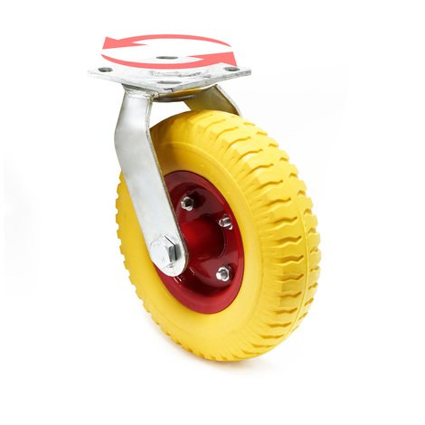 Rotating Castor 220x58mm Puncture-proof with Metal Rim and Fixture