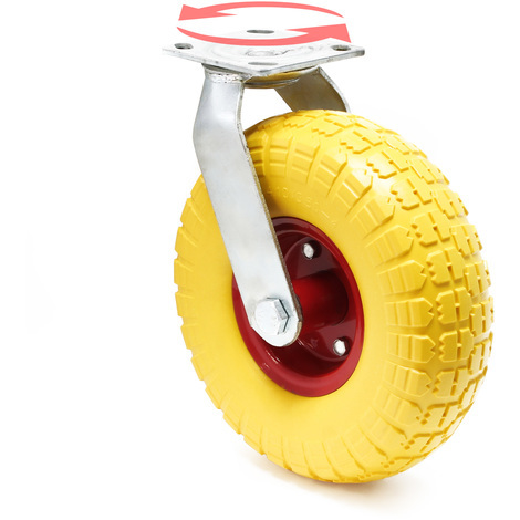 Rotating Castor 258x78mm Puncture-proof with Metal Rim and Fixture
