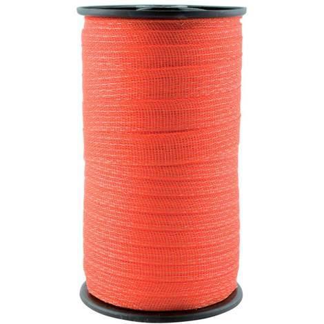 Rotes Band für 2 cm Elektrozaun in Rolle 200 m mit 4 Leitern Stahl 0,16 mm Umbria Equitazione