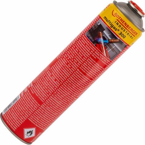 Rothenberger 3.5510 Multigas 300 Butane/Propane Gas Cartridge 600ml