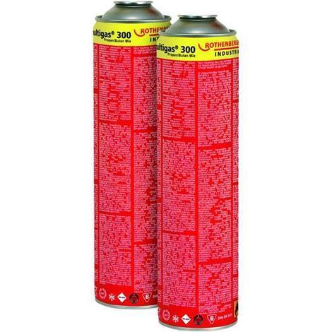 Rothenberger Gas-Kartusche / Schraubkartusche Multigas 300 2 Stück