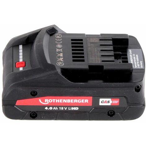 Rothenberger ROMAX 4000 Sertisseuse sans fil 18 V Li-Ion électro-hydraulique + Coffret de transport + 1x Batterie 4 Ah, sans Chargeur