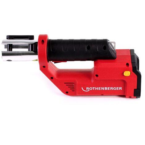 Rothenberger ROMAX Compact TT Set M EU Machine à sertir avec électro-hydraulique PB-Set M15-22-28 + Coffret de transport + 1x Batterie 2,0 Ah + Chargeur + 3x Mâchoires de presse ( 1000002118 )