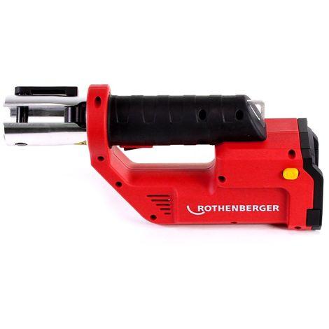 Rothenberger ROMAX Compact TT Set M EU Sertisseuse sans fil avec PB-Set M15-22-28 électro-hydraulique + Coffret de transport + 1x Batterie 2,0 Ah + 1x Batterie 4,0 Ah + Chargeur + 3x Mâchoires de pressage ( 1000002118 )