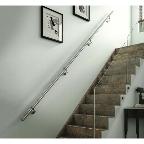 Rothley Stainless Steel Brushed Finish Handrail Kit 3.6M x 40mm