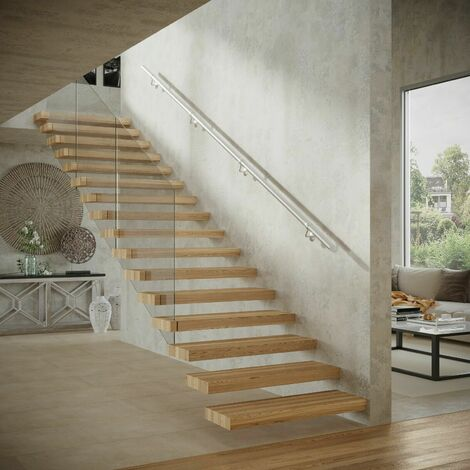 Rothley Stair Handrail Kit Baroque Brushed Stainless Steel 3.6 Metres x 40mm