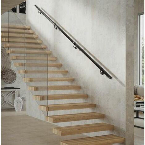 Rothley Stair Handrail Kit Baroque Matt Black Stainless Steel 3.6 Metres x 40mm