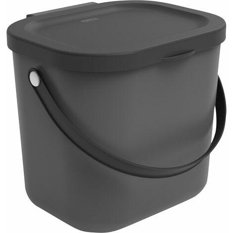 Rotho Mülltrennungssystem Albula 6 L Recyclingbehälter, 23,5 x 20 x 20,8 cm