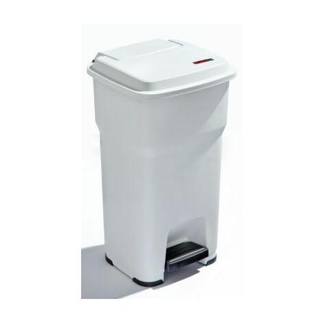 Tretabfalleimer | Kunststoff | 60 l | Weiß | rothopro Abfalleimer Abfallsammler