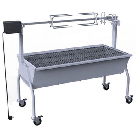 Rôtissoire pour barbecue électrique Barbecue extérieur Acier inoxydable 1 288 x 551 x 1 005 mm gris
