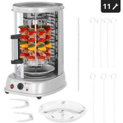 Rôtissoire Vertical De Kebab De Gril 4-En-1 Kombi 1500W Gril En Vertical Döner