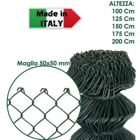 rotolo 50 mt h 50 cm rete a tripla torsione zincata 25x0,7 mm per gabbie e recin