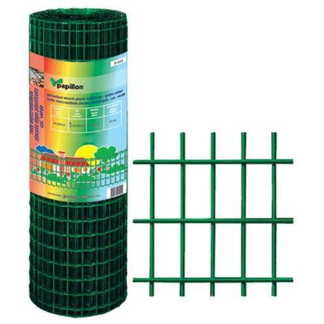ROTOLO 25 mt RETE PER RECINZIONE METALLICA PLASTIFICATA MAGLIA 5x7,5cm