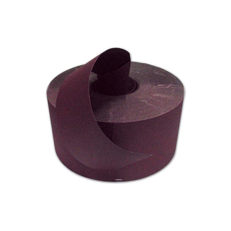 Rotolo carta abrasiva polivalente velcrata Grana 80 H 115 mm L 25 Mt.