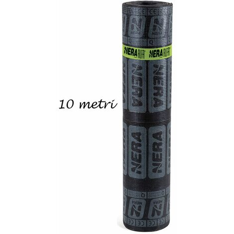 Rotolo Guaina Poliestere 10 mt Bituminosa 4kg/m2 Impermeabilizzante Tetti Bitume