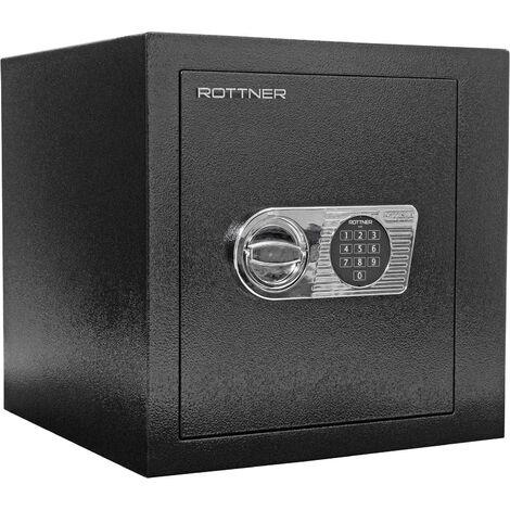 Rottner Monaco 45 EL Coffre-fort Noir Certifié Anti-effraction à Serrure Électronique