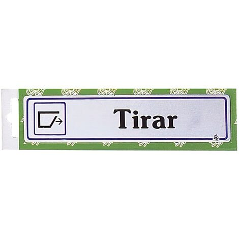 "Rotulo ""Tirar"""