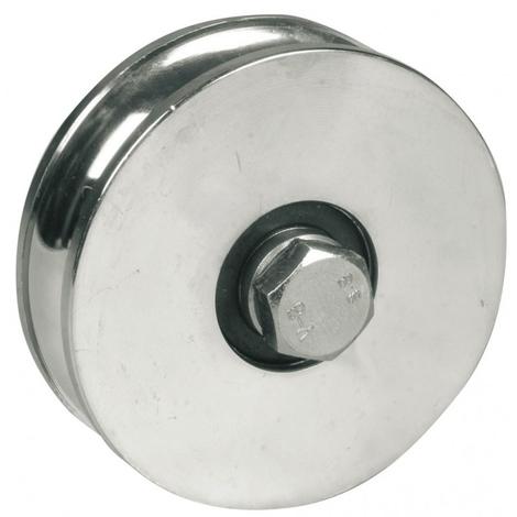 Roue à gorge ronde AVL Ø100 mm 2 roulements à billes - Charge 500 kg - Vis 14x70 mm - 916100A/2