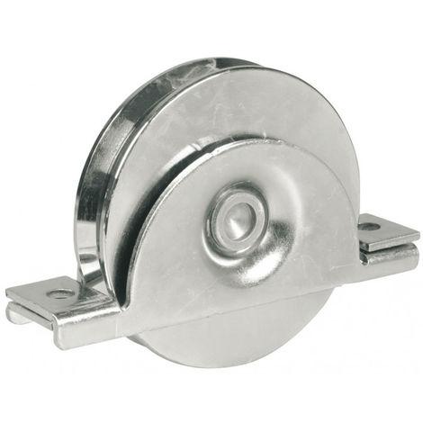 Roue à gorge ronde AVL Ø100 mm avec plaque latérale - Charge 300 kg - 919100A