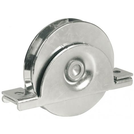 Roue à gorge ronde AVL Ø80 mm support à encastrer - Charge 150 kg - 918080A