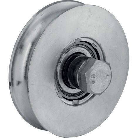 Roue à gorge ronde - Diametre : 16 - D : 80 - L : 20 - M : 32 - Charge : 150 - TORBEL