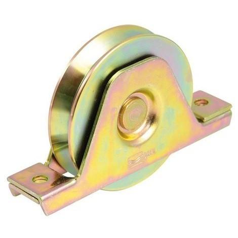 Roue à gorge triangulaire AVL Ø80 mm à encastrer - Charge 200 Kg - 7010