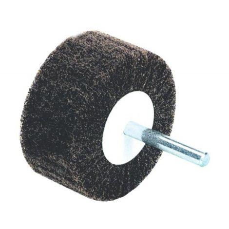 Roue à lamelle nylon diamètre 75 mm largeur 50 mm grain très fin