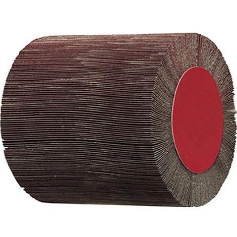 Roue à lamelles 100 x 100 mm, Grain : 80, Vitesse maxi. 3700 tr/mn
