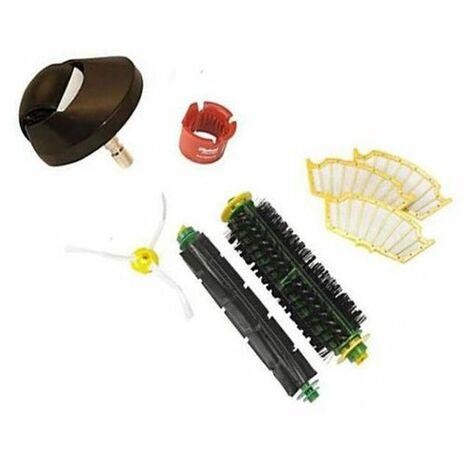 Roue avant et Brush Kit de remplacement pour les Rouge et Vert nettoyage des têtes iRobot Roomba 500 Seria