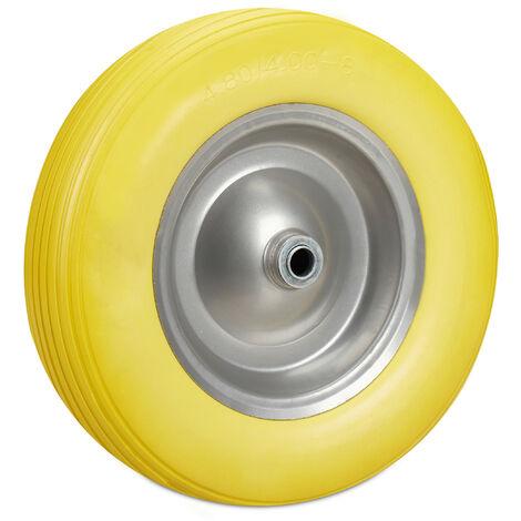 Roue de brouette 4.80 4.00-8, roue caoutchouc, roue secours, jante, pneus de diable 100 kg charge, jaune gris