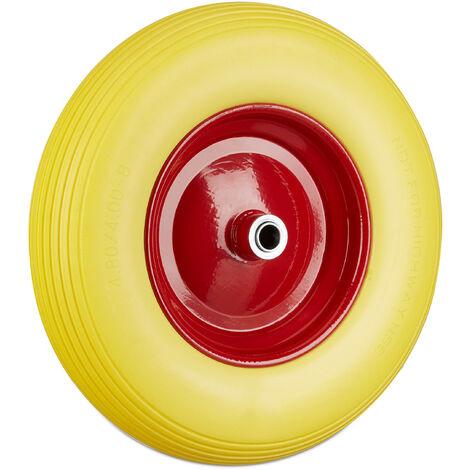 Roue de brouette 4.80 4.00-8, roue en caoutchouc, roue de secours, pneus de diable 100 kg charge, jaune rouge