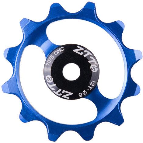 Roue De Guidage De Bicyclette Roulement En Ceramique De Dent 12T, Roue De Guidage De Derailleur Arriere En Alliage D'Aluminium Bleu