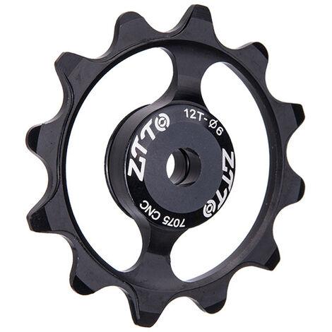 Roue De Guidage De Bicyclette Roulement En Ceramique De Dent 12T, Roue De Guidage De Derailleur Arriere En Alliage D'Aluminium Noir