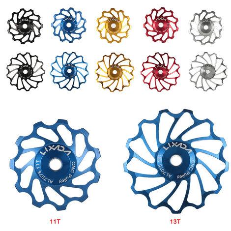 Roue De Guidage De Derailleur Arriere En Alliage D'Aluminium Pour Velo, 11T, Bleu