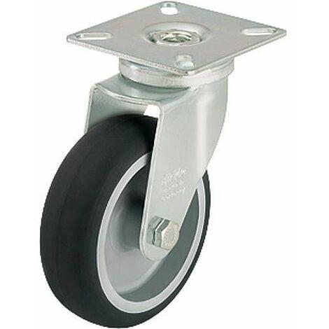 Roue de guidage LPA-TPA 100G charge limite 70 kg roue diam. 100 mm, taille plaque 60x60mm