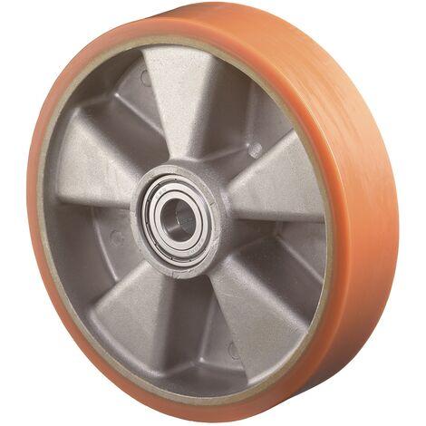 Roue de rechange Ø de la roue 150 mm Capacité de charge 5 bandage en polyuréthane coulé Ø d'axe 20 mm Longueur du moyeu 60 mm