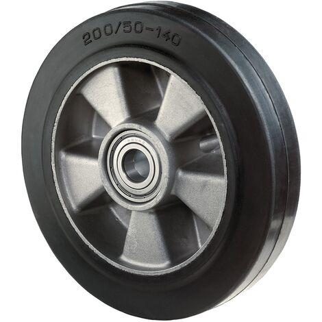 Roue de rechange Ø de la roue 160 mm Capacité de charge 3 caoutchouc noir D. axe 20 mm L. de moyeu 60 mm