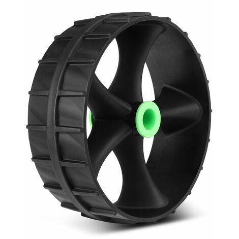 Roue de remplacement en plastique de roue de chariot de kayak sans perforation pour chariot de transport de kayak, modele?: noir