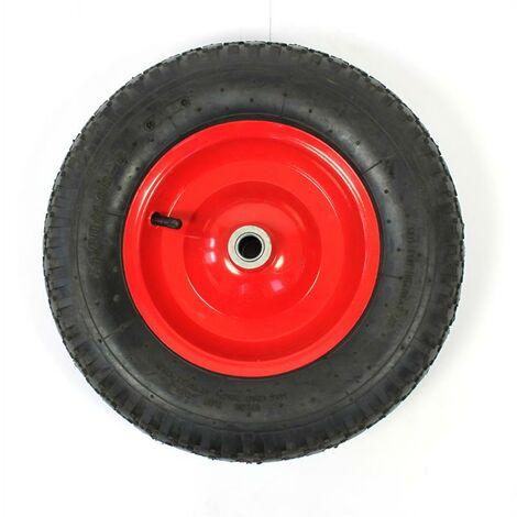 Roue de secours de brouette Jantes en métal pneu d'air 4,80 / 4.00-8 Ø400
