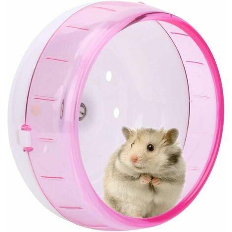 Roue d'exercice pour Hamster, Jouet pour Petits Animaux Roue, Roue pour Hamster silencieuse Roue Hamster pour Nain silencieuse pour Petit Hamster Guinée Cochon Jouets Roue silencieuse Gerbille