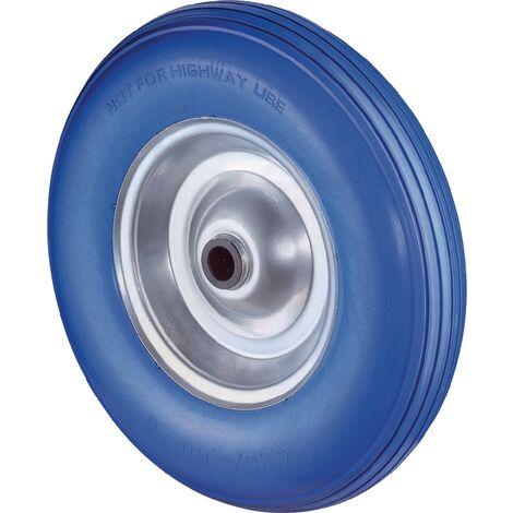 Roue en polyuréthane Ø de la roue 260 mm Capacité de charge 1 à l'épreuve des pannes jante en acier cranté